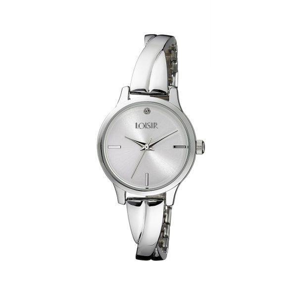 11L03-00328 Loisir Twist Bangle Watch