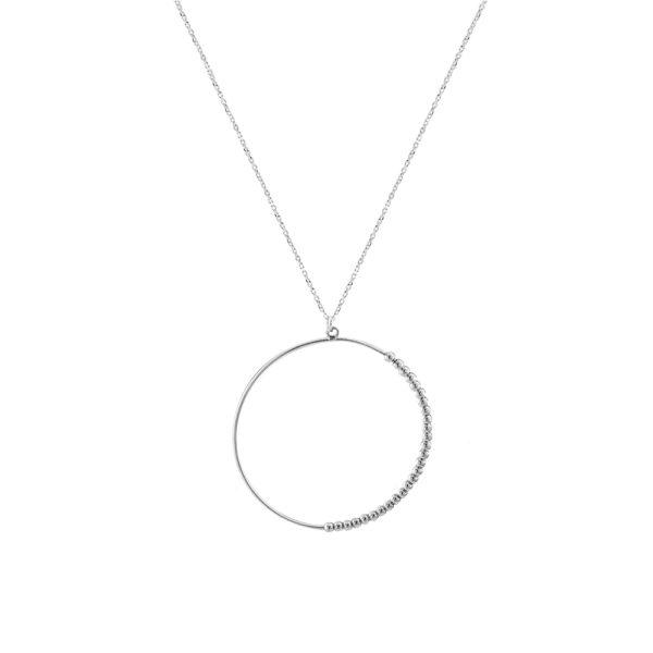 01L03-00521 Loisir Fashionistas Silver Color Necklacecklace