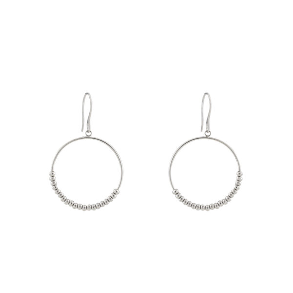 03L03-00198 Loisir Fashionistas Silver Color Earrings