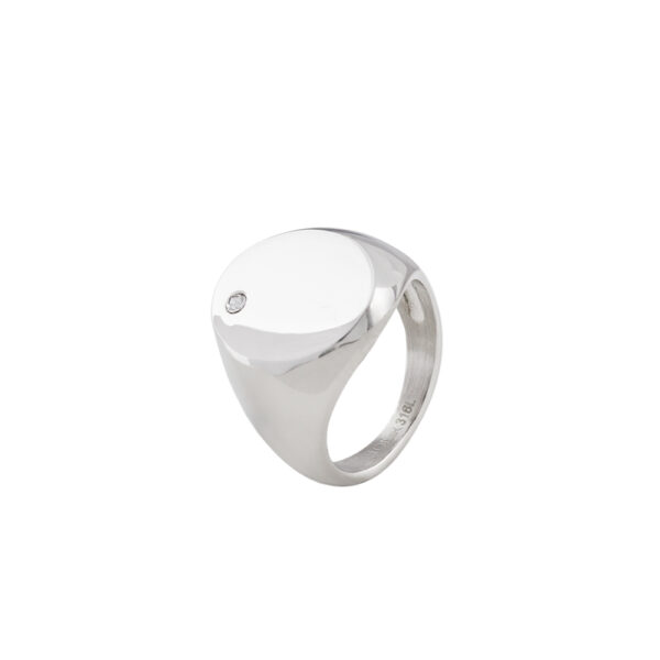 04L03-00278 Loisir Fashionistas Silver Color Ring