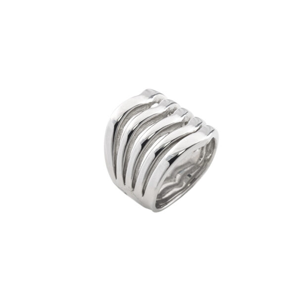 04L03-00286 Loisir Fashionistas Silver Color Ring