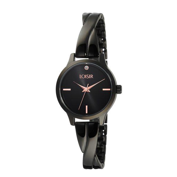11L03-00345 Loisir Twist Bangle Watch
