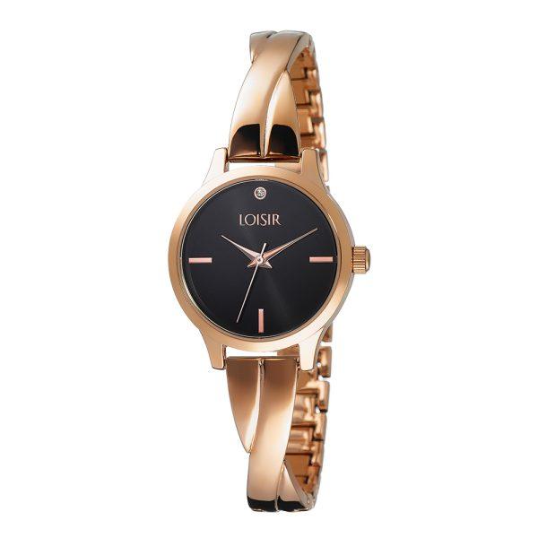 11L05-00436 Loisir Twist Bangle Watch