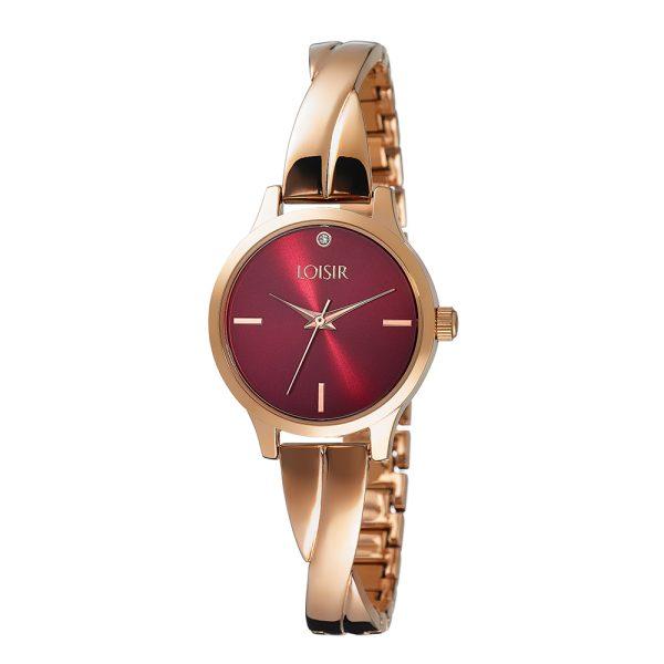 11L05-00437 Loisir Twist Bangle Watch