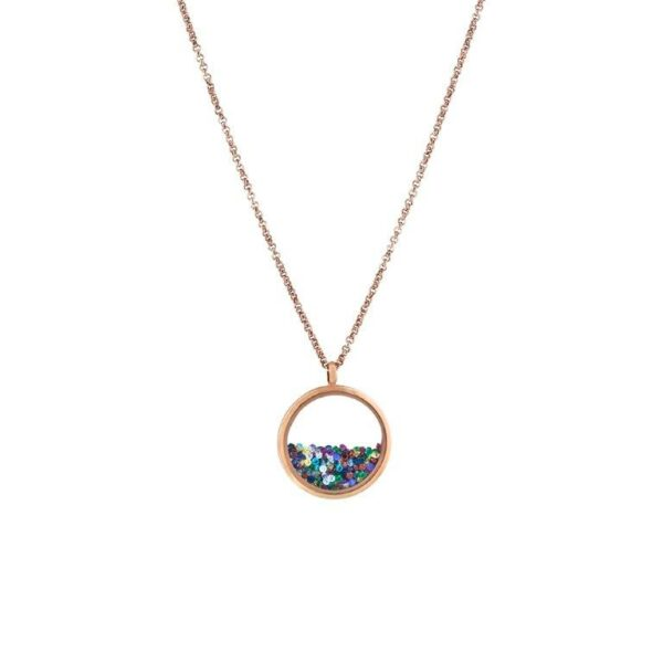 01L27-00818 Loisir Multi Color Locket Necklace