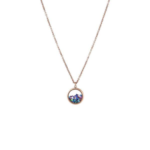 01L27-00819 Loisir Multi Color Locket Necklace