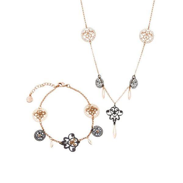 Loisir Arabesque Necklace and Bracelet Set